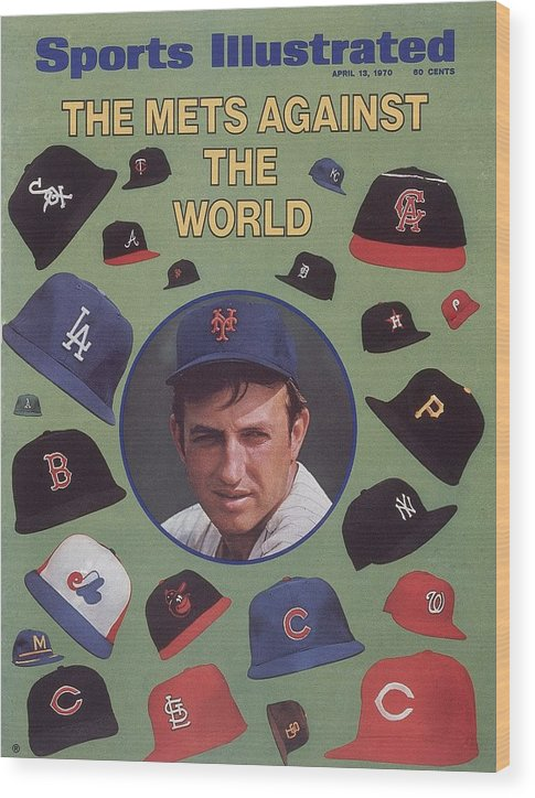 Magazine Cover Wood Print featuring the photograph New York Mets Jerry Koosman Sports Illustrated Cover by Sports Illustrated