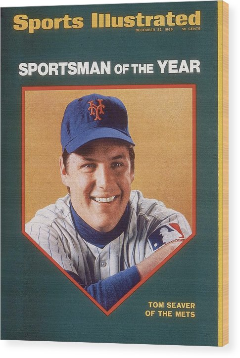 Tom Seaver Wood Print featuring the photograph New York Mets Tom Seaver Sports Illustrated Cover by Sports Illustrated
