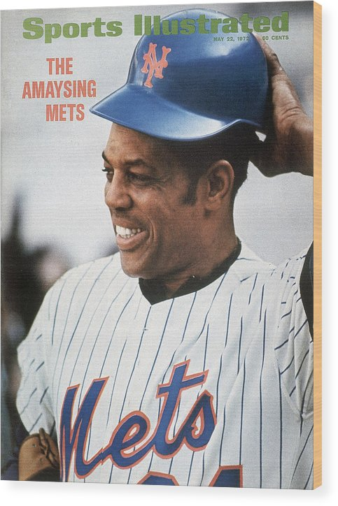 Sports Illustrated Wood Print featuring the photograph New York Mets Willie Mays Sports Illustrated Cover by Sports Illustrated
