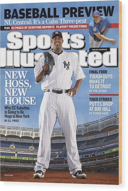 Magazine Cover Wood Print featuring the photograph New York Yankees Cc Sabathia Sports Illustrated Cover by Sports Illustrated