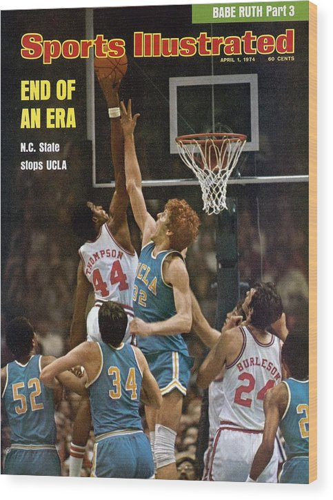 David Thompson Wood Print featuring the photograph North Carolina State David Thompson, 1974 Ncaa Semifinals Sports Illustrated Cover by Sports Illustrated