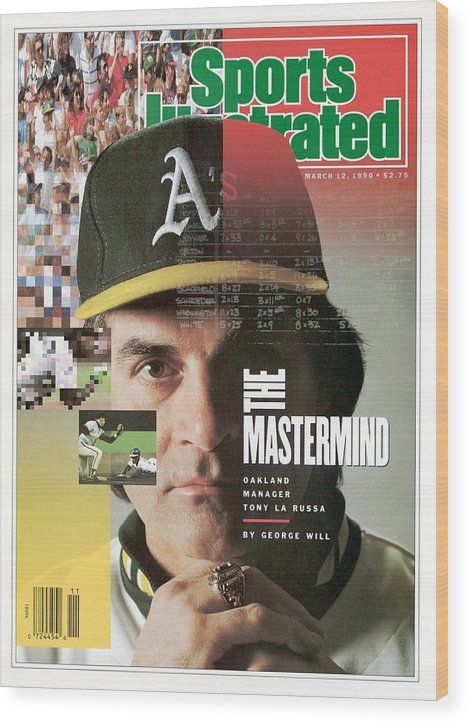 American League Baseball Wood Print featuring the photograph Oakland Athletics Manager Tony La Russa Sports Illustrated Cover by Sports Illustrated