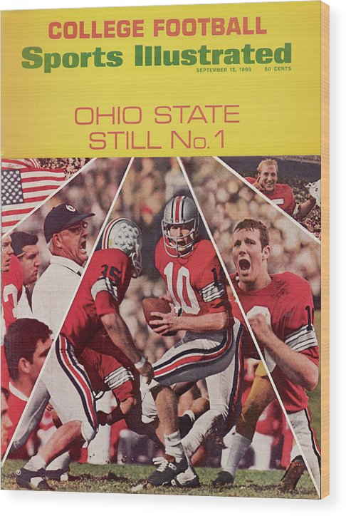 Michigan State University Wood Print featuring the photograph Ohio State Still No. 1 Sports Illustrated Cover by Sports Illustrated