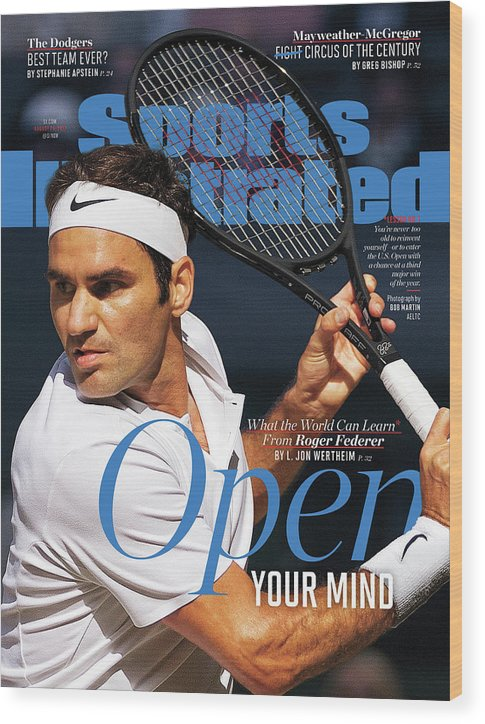 Tennis Wood Print featuring the photograph Open Your Mind What The World Can Learn From Roger Federer Sports Illustrated Cover by Sports Illustrated