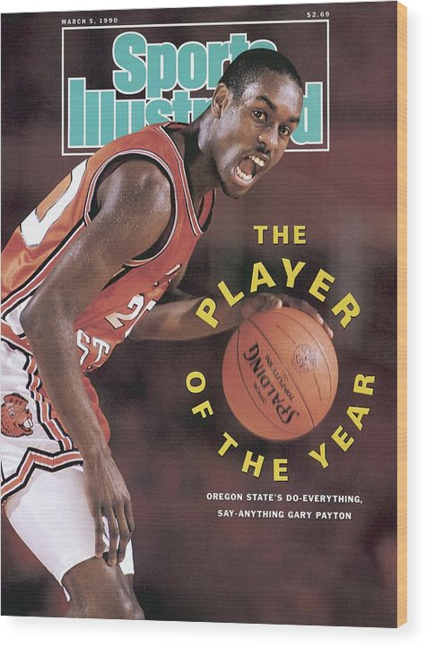 Magazine Cover Wood Print featuring the photograph Oregon State Gary Payton Sports Illustrated Cover by Sports Illustrated