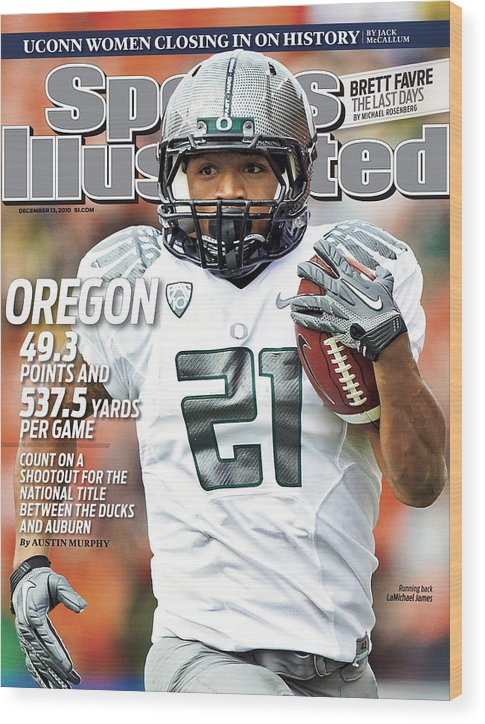 Magazine Cover Wood Print featuring the photograph Oregon State University Vs University Of Oregon Sports Illustrated Cover by Sports Illustrated