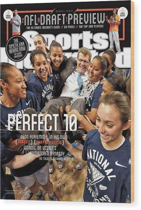 Magazine Cover Wood Print featuring the photograph Perfect 10 Geno Auriemma, In His Own Direct Unapologetic Sports Illustrated Cover by Sports Illustrated