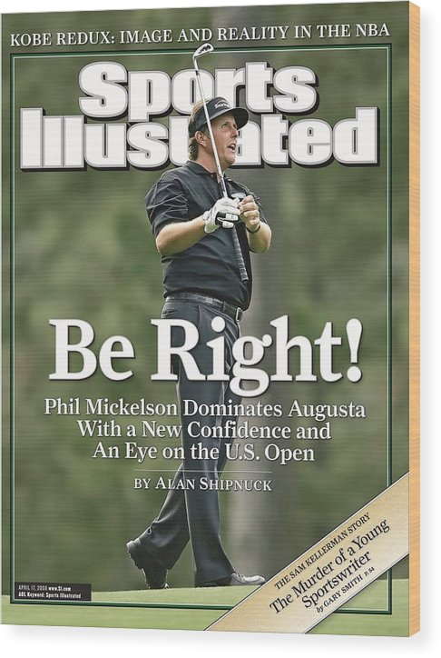 Magazine Cover Wood Print featuring the Phil Mickelson, 2006 Masters Sports Illustrated Cover by Sports Illustrated