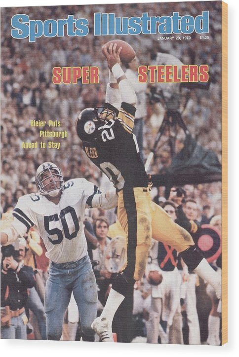 Super Bowl Xiii Wood Print featuring the photograph Pittsburgh Steelers Rocky Bleier, Super Bowl Xiii Sports Illustrated Cover by Sports Illustrated