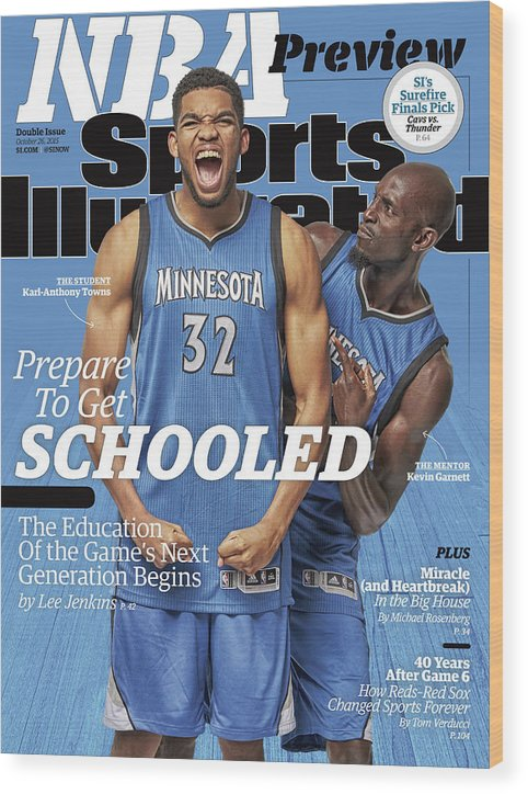 Magazine Cover Wood Print featuring the photograph Prepare To Get Schooled, The Education Of The Games Next Sports Illustrated Cover by Sports Illustrated