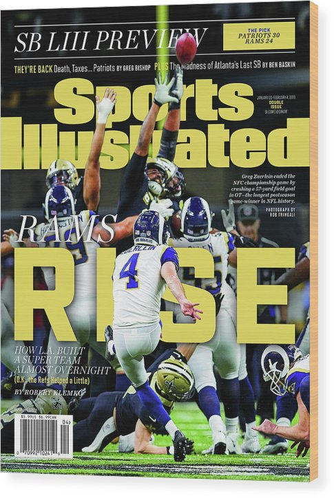 Magazine Cover Wood Print featuring the photograph Rams Rise How L.a. Built A Super Team Almost Overnight Sports Illustrated Cover by Sports Illustrated