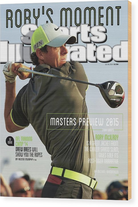Magazine Cover Wood Print featuring the photograph Rorys Moment 2014 British Open Sports Illustrated Cover by Sports Illustrated