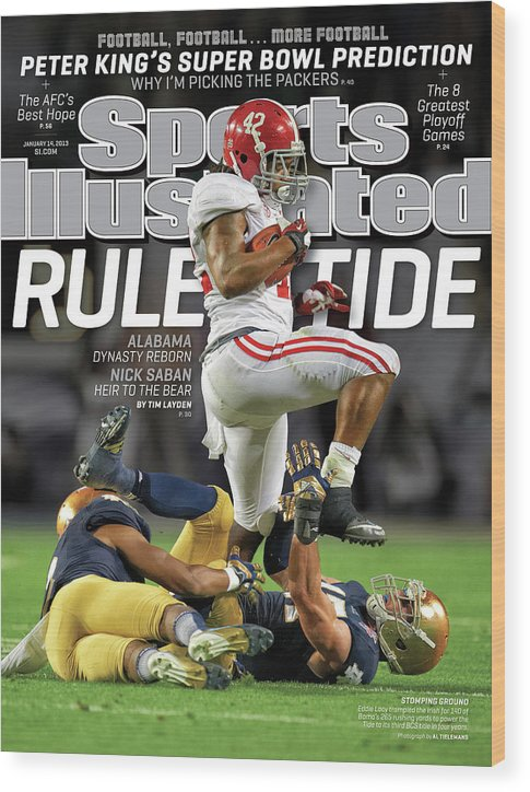 Miami Gardens Wood Print featuring the photograph Rule Tide Alabama Dynasty Reborn Sports Illustrated Cover by Sports Illustrated
