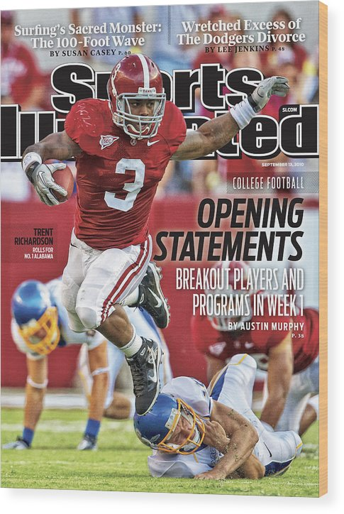 Sports Illustrated Wood Print featuring the photograph San Jose State V Alabama Sports Illustrated Cover by Sports Illustrated
