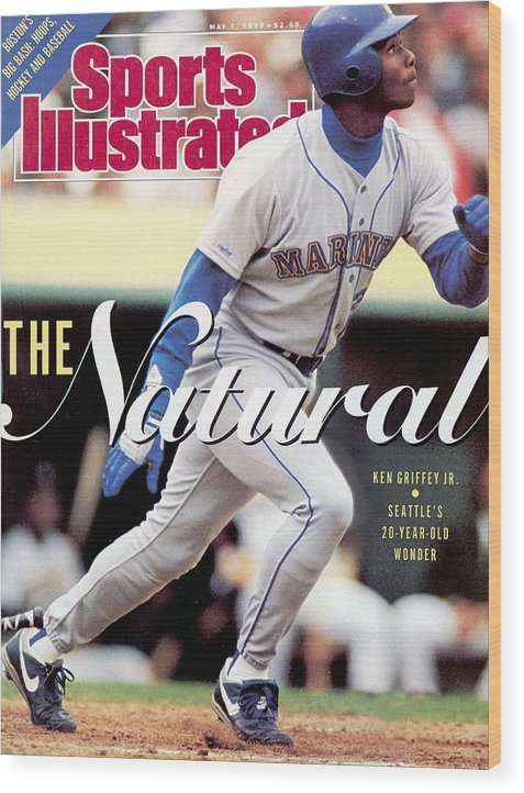 Magazine Cover Wood Print featuring the photograph Seattle Mariners Ken Griffey Jr... Sports Illustrated Cover by Sports Illustrated