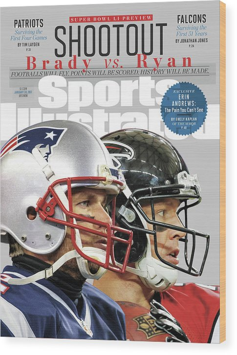 Playoffs Wood Print featuring the photograph Shootout Super Bowl Li Preview Sports Illustrated Cover by Sports Illustrated