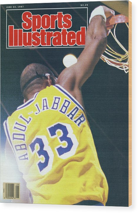 Magazine Cover Wood Print featuring the photograph Slam The Lakers Beat Boston For The Nba Title Sports Illustrated Cover by Sports Illustrated