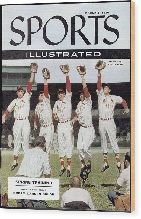 St. Louis Cardinals Wood Print featuring the photograph St. Louis Cardinals Sports Illustrated Cover by Sports Illustrated