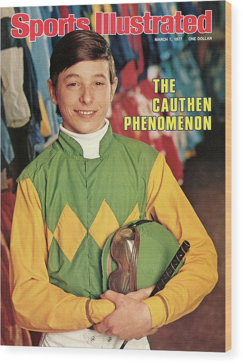 Horse Wood Print featuring the photograph Steve Cauthen, Horse Racing Jockey Sports Illustrated Cover by Sports Illustrated