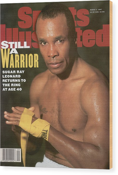Event Wood Print featuring the photograph Sugar Ray Leonard, Middleweight Boxing Sports Illustrated Cover by Sports Illustrated