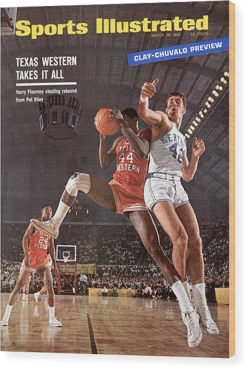Magazine Cover Wood Print featuring the photograph Texas Western University Takes It All Sports Illustrated Cover by Sports Illustrated