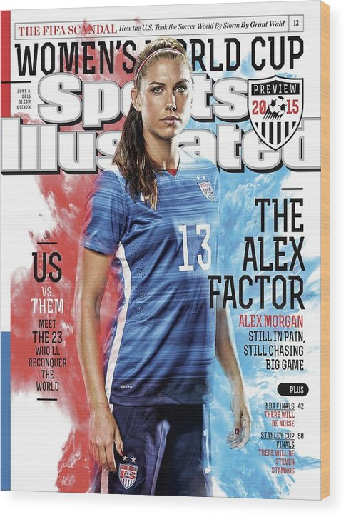 Magazine Cover Wood Print featuring the photograph The Alex Factor Us Vs. Them, Meet The 23 Wholl Reconquer Sports Illustrated Cover by Sports Illustrated