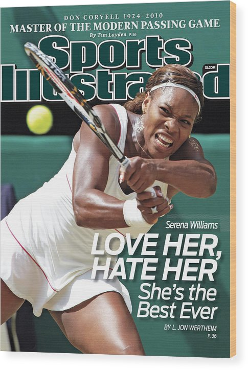Tennis Wood Print featuring the photograph The Championships - Wimbledon 2010 Day Twelve Sports Illustrated Cover by Sports Illustrated