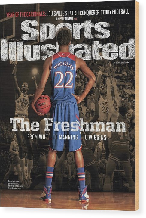 Magazine Cover Wood Print featuring the photograph The Freshman From Wilt...to Manning...to Wiggins Sports Illustrated Cover by Sports Illustrated