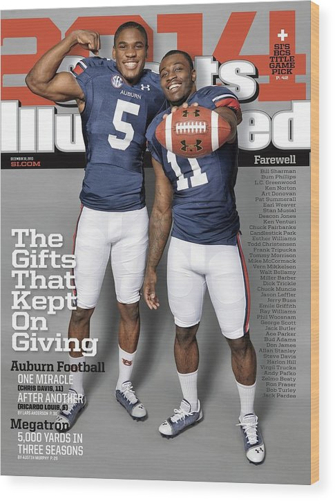 Magazine Cover Wood Print featuring the photograph The Gifts That Kept On Giving Auburn Football Sports Illustrated Cover by Sports Illustrated