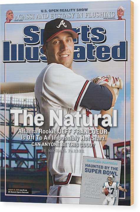 Atlanta Wood Print featuring the photograph The Natural Atlanta Rookie Jeff Francoeur Is Off To An Sports Illustrated Cover by Sports Illustrated