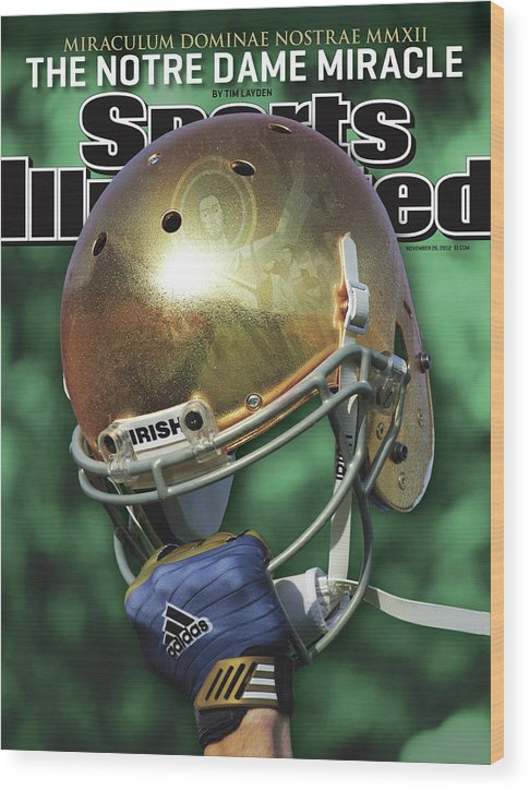 Magazine Cover Wood Print featuring the photograph The Notre Dame Miracle Sports Illustrated Cover by Sports Illustrated