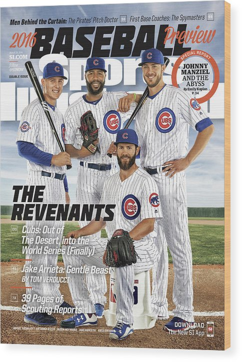 Magazine Cover Wood Print featuring the photograph The Revenants, 2016 Mlb Baseball Preview Issue Sports Illustrated Cover by Sports Illustrated