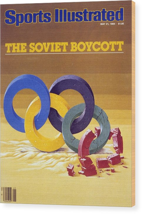 Magazine Cover Wood Print featuring the photograph The Soviet Unions Boycott Of Los Angeles Olympics Sports Illustrated Cover by Sports Illustrated