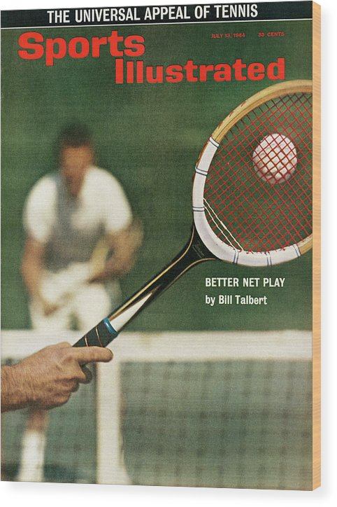 Magazine Cover Wood Print featuring the photograph The Universal Appeal Of Tennis Better Net Play By Bill Sports Illustrated Cover by Sports Illustrated