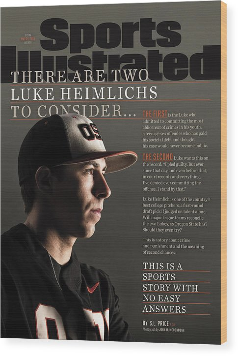 Magazine Cover Wood Print featuring the photograph There Are Two Luke Heimlichs To Consider... Sports Illustrated Cover by Sports Illustrated