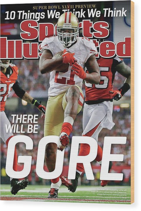 Atlanta Wood Print featuring the photograph There Will Be Gore Super Bowl Xlvii Preview Issue Sports Illustrated Cover by Sports Illustrated