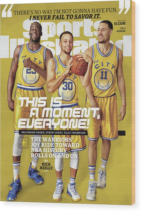Point Guard Wood Print featuring the photograph This Is A Moment, Everyone The Warriors Joy Ride Toward Nba Sports Illustrated Cover by Sports Illustrated