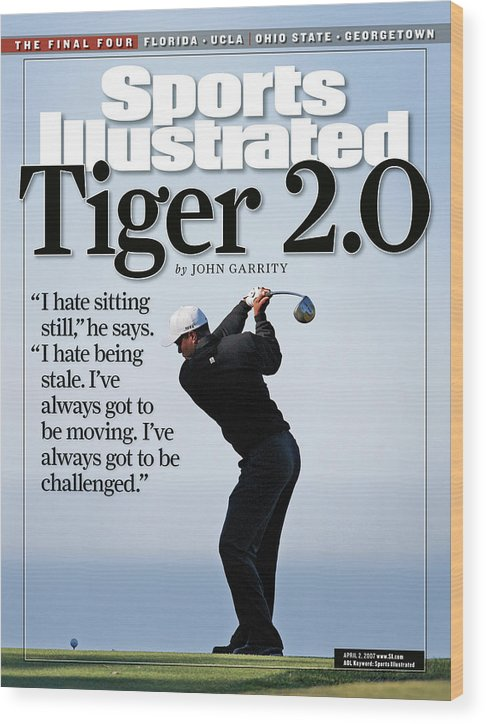 Magazine Cover Wood Print featuring the photograph Tiger Woods, 2007 Buick Invitational Practice Round Sports Illustrated Cover by Sports Illustrated