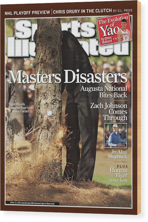 Magazine Cover Wood Print featuring the photograph Tiger Woods, 2007 Masters Sports Illustrated Cover by Sports Illustrated