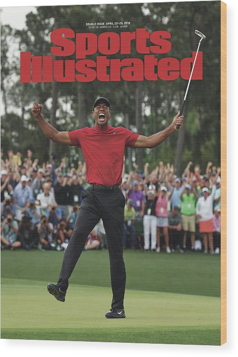Magazine Cover Wood Print featuring the photograph Tiger Woods, 2019 Masters Tournament Champion Sports Illustrated Cover by Sports Illustrated