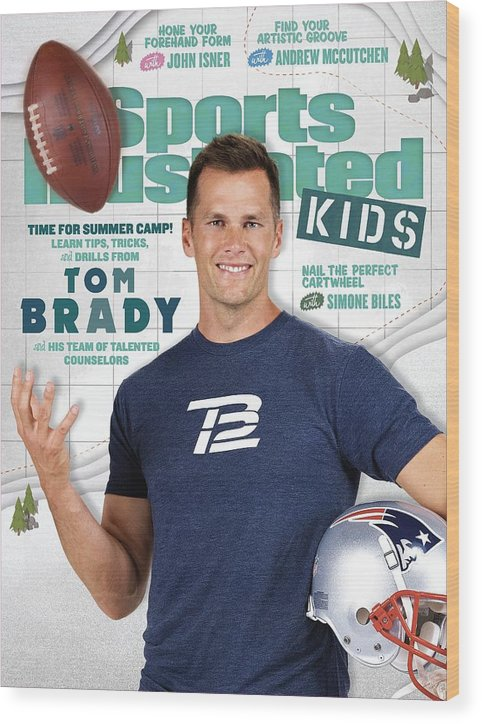 People Wood Print featuring the photograph Tom Brady Sports Illustrated Cover by Sports Illustrated