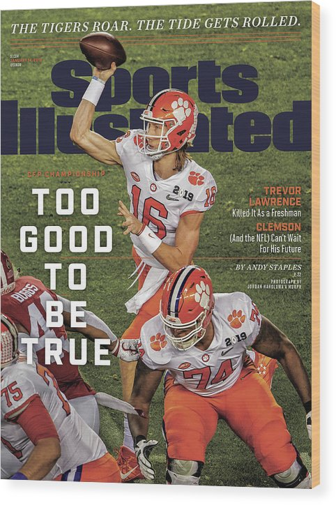 Magazine Cover Wood Print featuring the photograph Too Good To Be True Trevor Lawrence Killed It As A Sports Illustrated Cover by Sports Illustrated