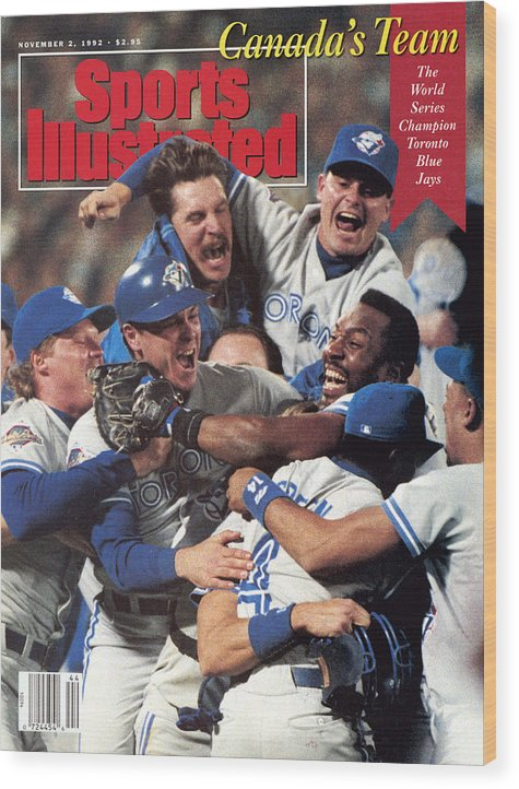 Atlanta Wood Print featuring the photograph Toronto Blue Jays Joe Carter, 1992 World Series Sports Illustrated Cover by Sports Illustrated