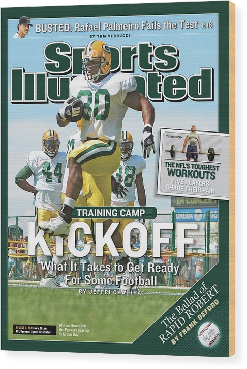 Green Bay Wood Print featuring the photograph Training Camp Kickoff What It Takes To Get Ready For Some Sports Illustrated Cover by Sports Illustrated