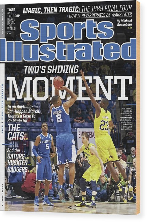 Magazine Cover Wood Print featuring the photograph Twos Shining Moment In An Anything-can-happen March, Theres Sports Illustrated Cover by Sports Illustrated