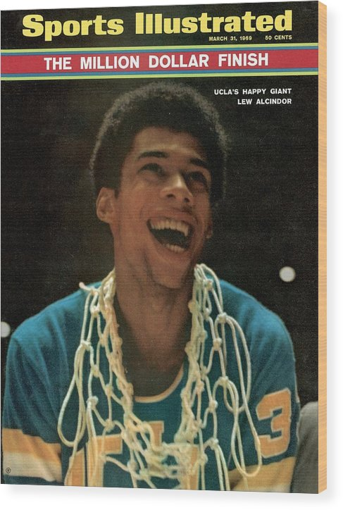 Magazine Cover Wood Print featuring the photograph Ucla Lew Alcindor, 1969 Ncaa National Championship Sports Illustrated Cover by Sports Illustrated