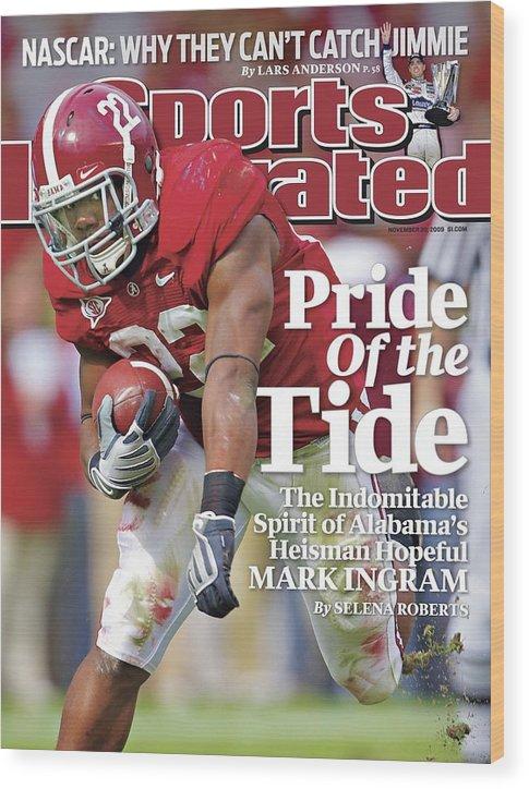 Magazine Cover Wood Print featuring the photograph University Of Alabama Mark Ingram Sports Illustrated Cover by Sports Illustrated