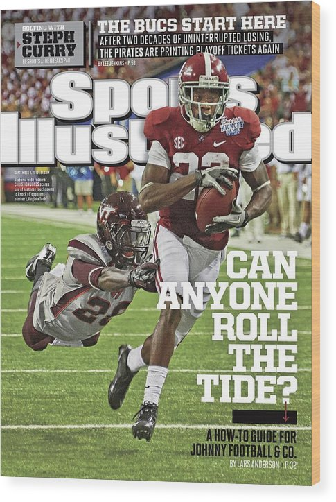 Atlanta Wood Print featuring the photograph University Of Alabama Vs Virginia Tech, 2013 Chick-fil-a Sports Illustrated Cover by Sports Illustrated
