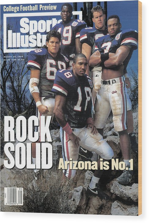Season Wood Print featuring the photograph University Of Arizona, 1994 College Football Preview Issue Sports Illustrated Cover by Sports Illustrated