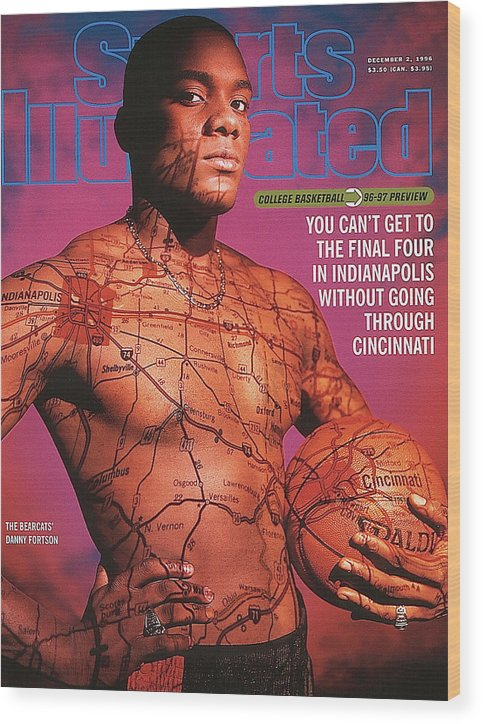 Season Wood Print featuring the photograph University Of Cincinnati Danny Fortson, 1996-97 College Sports Illustrated Cover by Sports Illustrated